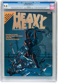 Heavy Metal #1 (HM Communications, 1977) CGC NM/MT 9.8 White pages