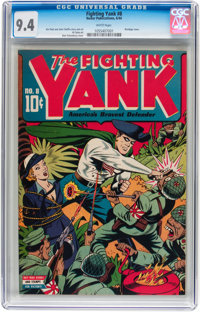 Fighting Yank #8 (Nedor Publications, 1944) CGC NM 9.4 White pages