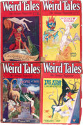 Pulps:Horror, Weird Tales Group (Popular Fiction, 1929) Condition: AverageGD/VG.... (Total: 7 Items)