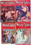 Pulps:Horror, Weird Tales Group (Popular Fiction, 1930-31) Condition: AverageGD+.... (Total: 5 Items)