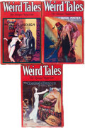 Pulps:Horror, Weird Tales Group (Popular Fiction, 1929) Condition: Average VG....(Total: 3 Items)