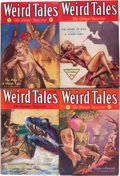 Pulps:Horror, Weird Tales Group (Popular Fiction, 1932) Condition: Average VG.... (Total: 4 Items)