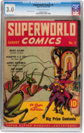Golden Age (1938-1955):Science Fiction, Superworld Comics #3 (Hugo Gernsback, 1940) CGC GD/VG 3.0 Slightlybrittle pages....