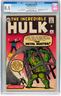 Silver Age (1956-1969):Superhero, The Incredible Hulk #6 (Marvel, 1963) CGC VF+ 8.5 Off-white to white pages....