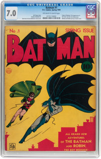 Batman #1 (DC, 1940) CGC FN/VF 7.0 Off-white to white pages