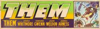 """Them! (Warner Brothers, 1954). Banner (24"""" X 82""""). From the collection of Wade Williams"""