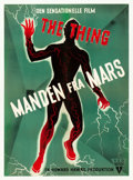 "Movie Posters:Science Fiction, The Thing from Another World (RKO, 1951). Danish One Sheet (24.25""X 33.25"").. ..."