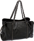Luxury Accessories:Bags, Chanel Black Patent Leather Large Modern Chain CC Tote Bag. ...