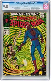 The Amazing Spider-Man Annual #5 (Marvel, 1968) CGC NM/MT 9.8 White pages