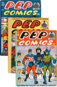 Pep Comics #31-36 Removed From Bound Volume (MLJ, 1942-43)