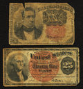 Fractional Currency:Fifth Issue, Fr. 1265 10¢ Fifth Issue Very Good. Fr. 1307 25¢ Fourth Issue Very Good.. ... (Total: 2 notes)