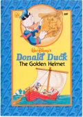 Original Comic Art:Covers, Little Golden Book Unpublished Donald Duck and the GoldenHelmet Cover Mockup Original Art (Western Publishing, ci...