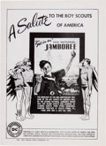 Memorabilia:Comic-Related, Boy Scouts National Jamboree Promo Sheet (DC Comics, 1950) Condition: NM....