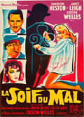 "Movie Posters:Film Noir, Touch of Evil (Universal International, 1958). Autographed FrenchAffiche (22.5"" X 31.5"").. ..."