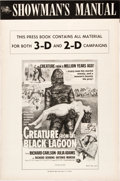 "Movie Posters:Horror, Creature from the Black Lagoon (Universal International, 1954).Uncut 3-D and 2-D Pressbook (16 Pages, 12"" X 18"").. ..."