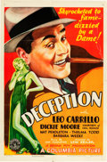 "Movie Posters:Drama, Deception (Columbia, 1932). One Sheet (27"" X 41"") Style A.. ..."