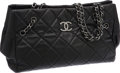 Luxury Accessories:Bags, Chanel Large Black Caviar Leather Tote Bag with Quilted Hardware....
