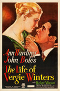 "Movie Posters:Melodrama, The Life of Vergie Winters (RKO, 1933). One Sheet (27"" X 41"").. ..."