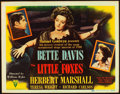 "Movie Posters:Drama, The Little Foxes (RKO, 1941). Title Lobby Card (11"" X 14"").. ..."