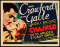 "Movie Posters:Drama, Chained (MGM, 1934). Title Lobby Card (11"" X 14"").. ..."