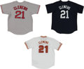 Baseball Collectibles:Uniforms, Roger Clemens Signed Jersey - Lot of 3. ...
