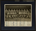 Hockey Collectibles:Photos, 1943-44 Buffalo Bisons Team Signed Photograph. ...