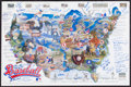 Baseball Collectibles:Others, 1987 Baseball Across America Signed Poster. ...