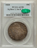 Bust Half Dollars: , 1828 50C Square Base 2, Small 8, Small Letters AU50 PCGS. CAC. PCGSPopulation (4/29). (#6152)...