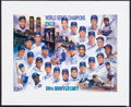 Baseball Collectibles:Others, 1969 New York Mets 30th Anniversary Team Signed Lithograph. ...