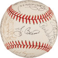 Autographs:Baseballs, Baseball Hall Of Famers Multi Signed Ball....