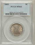 Liberty Nickels: , 1893 5C MS64 PCGS. PCGS Population (200/94). NGC Census: (177/96).Mintage: 13,370,195. Numismedia Wsl. Price for problem f...