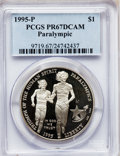 Modern Issues: , 1995-P $1 Olympic/Paralympics Silver Dollar PR67 Deep Cameo PCGS.PCGS Population (29/2083). NGC Census: (7/1435). Numisme...