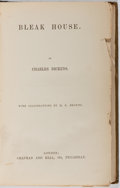 Books:Literature Pre-1900, Charles Dickens. Bleak House. Chapman and Hall, [n. d.].Cloth boards with rubbing. Crudely rebacked with portion of...