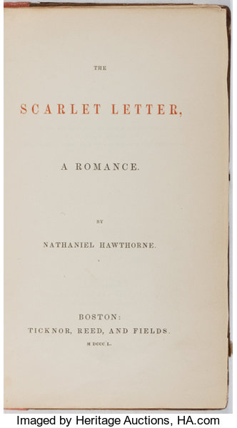 booksliterature pre 1900 nathaniel hawthorne the scarlet letter ticknor