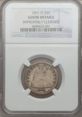 Seated Quarters: , 1891-O 25C -- Improperly Cleaned -- NGC Details. Good. NGC Census:(0/29). PCGS Population (4/77). Mintage: 68,000. Numisme...