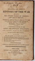 Books:Americana & American History, [American Revolution]. Thomas O'Connor. An Impartial and CorrectHistory of the War Between the United States of America...
