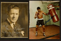 Boxing Collectibles:Autographs, 1930's Gene Tunney and Floyd Patterson Signed Photographs. ...