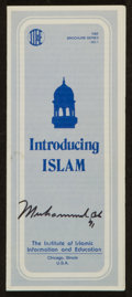 Boxing Collectibles:Autographs, 1991 Muhammad Ali Signed Religious Pamphlet. ...