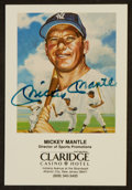 Baseball Collectibles:Others, Mickey Mantle Signed Postcard. ...
