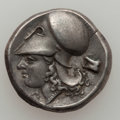 Ancients:Ancient Lots  , Ancients: CORINTHIA. Corinth. Ca. 400-300 BC. Lot of two (2)P AR Staters.... (Total: 2 coins)