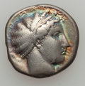 Ancients:Greek, Ancients: LUCANIA. Metapontum. Ca. 430-400 BC. AR stater (7.68gm)....