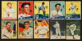 Baseball Cards:Lots, 1930's Goudey & National Chicle Baseball Collection (10) WithHoFers. ...