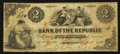 Obsoletes By State:Rhode Island, Providence, RI- Bank of the Republic $2 Sep. 16, 1855. ...