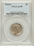 Buffalo Nickels: , 1915-D 5C AU58 PCGS. PCGS Population (162/732). NGC Census:(150/576). Mintage: 7,569,000. Numismedia Wsl. Price for proble...