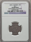 Early Dimes, 1805 10C 4 Berries -- Improperly Cleaned -- NGC Details. VF. JR-2,R.2....
