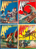 Pulps:Science Fiction, Amazing Stories Group Removed From Bound Volume (Ziff-Davis,1926).... (Total: 6 Items)