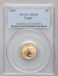 Modern Bullion Coins, 2007 $5 Tenth-Ounce Gold Eagle MS69 PCGS. PCGS Population (251/25).Numismedia Wsl. Price for problem f...