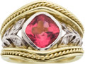 Estate Jewelry:Rings, Tourmaline, Diamond, Gold Ring, SeidenGang. ...