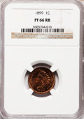 Proof Indian Cents, 1899 1C PR66 Red and Brown NGC....