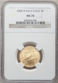 Modern Issues, 2008-W G$5 Bald Eagle MS70 NGC. NGC Census: (897). PCGS Population(481). Numismedia Wsl. Price for problem free NGC/PCGS ...
